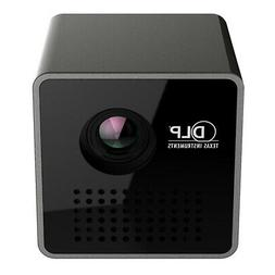 "1.8"" Cube Mini Portable Projector Pocket LED 1080P HD Video"