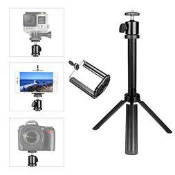 pangshi 2-in-1 DSLR Camera + Smartphone Mini Tripod Aluminum