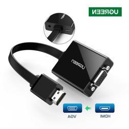 Ugreen 1080P Active HDMI to VGA Audio adapter Converter+Mirc