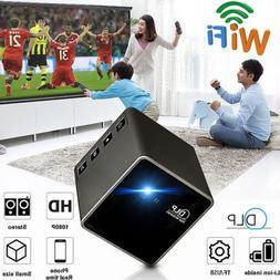 1080P FHD P1+ DLP Wifi LED Mini Pocket Projector Home Theate