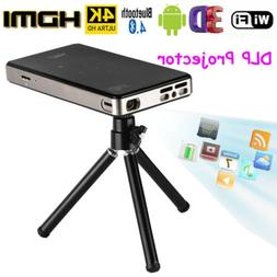 4K Smart DLP Mini Projector Android WiFi Bluetooth 1080P 8G