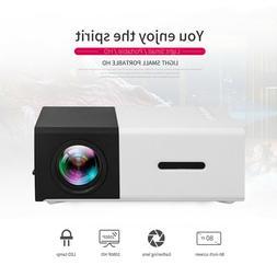 1080P HD LED Mini Projector HDMI USB 3.5mm Home Theater Movi