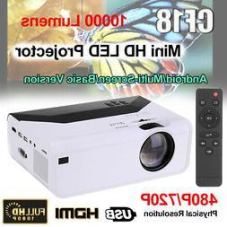 1080P HD Mini LED Projector Video Multimedia Home Theater Ci