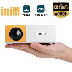 1080P HD Theater Projector Cinema USB AV Home Mini Projector