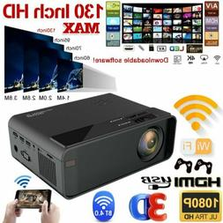 1080P HD WiFi Bluetooth 3D LED Mini Video Projector Home Cin