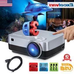 1080P Mini Portable LED Projector 5000 Lumens Home Theater C