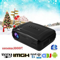 1080P LED HD Mini Projector Home Cinema Multimedia WiFi Andr