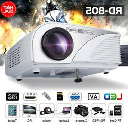 1080P Mini HD LED Projector Home Cinema Theater Multimedia U