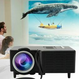 1080P Mini LED Smart Home Theater Projector FHD 3D AV USB Vi