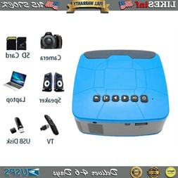 1080P Mini Portable HD LED Projector USB HDMI AV SD Home The