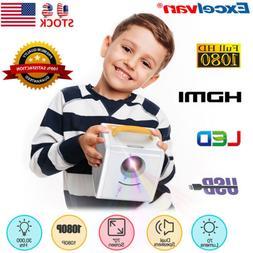 1080P Mini Projector Multimedia Home Theater TF AV USB HDMI