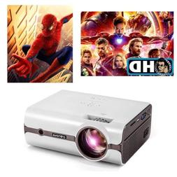 Crenova 1080P Mini Projector Screen Video USB HDMI Home Thea