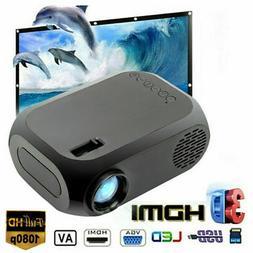 1080P Portable HD Mini LED Projector Home Theater Cinema Mul