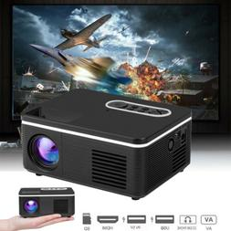 1080P Portable Mini LED Projector HD 4K 3D Video Home Theate