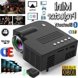 1080P Portable Mini LED Projector HD 4K 3D Video Home Theate