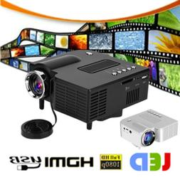 1080P Portable Mini LED Projector Home Theater Cinema Multim