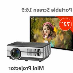 EUG 1080p Portable Home Theater Mini Pico Movie Projector an