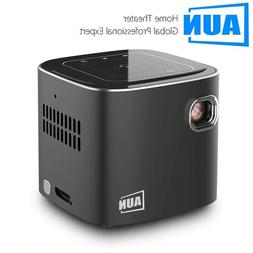 AUN 120 inch MINI Projector X4, Android 7.1 WIFI Bluetooth,