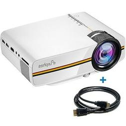 1200 lumens led mini video projector support
