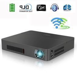 12000:1 HD Mini Pico Bluetooth 3D Projector WiFi Home Theate