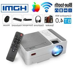 Blue tooth Mini Projector Wifi Wireless Android Smart Portab