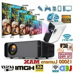 15000 Lumens 1080P 3D LED 4K Mini Wifi Video Home Theater Pr