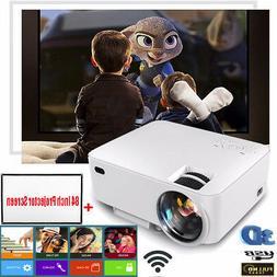 15000 Lumens Mini LED Multimedia Home Theater Projector+84 I