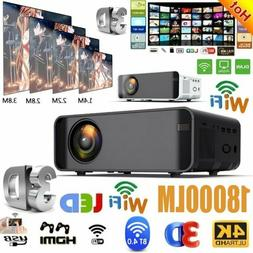 18000 Lumens 1080P 3D LED 4K Mini Wifi Video Home Theater Pr