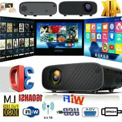 18000 Lumens 4K 1080P HD WiFi Mini 3D LED Home Theater Proje