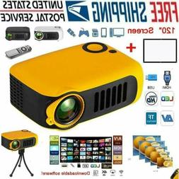 1800LM Mini Pocket Projector HD 1080P Movie Video Projectors