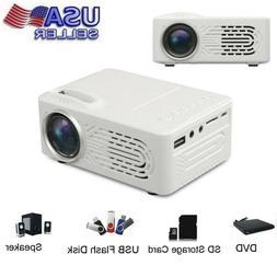1x7000 Lumens 3D 1080P Full HD Mini Projector LED Multimedia