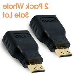 CyberTech 2-Pack Mini HDMI  Male to HDMI Female Gold Plated