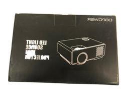 DBPOWER 2018 LED Light Source Black Mini Projector - PJ0738,