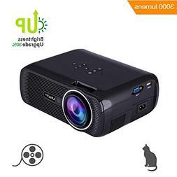 TOPRUI 2018 Mini LED Movie Video Projector, +30% Brighter Lu