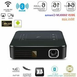 2019 Mini DLP HD 4K Home Theater Projector Wifi 1080P Mini A