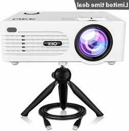 2019 upgrade mini projector tripod led projector