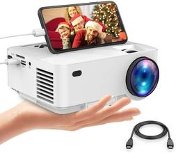 2019 Upgraded Mini Projector, DBPOWER 2800Lux Portable Video