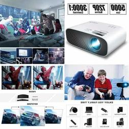 2020 Mini Movie Projector 5000 LUX Full HD 1080P Video W 50