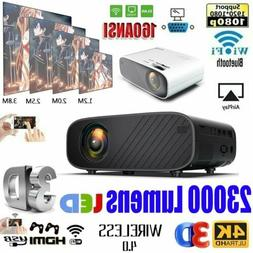 23000Lumens 4K 1080P HD WiFi 3D LED Mini Video Theatre Proje