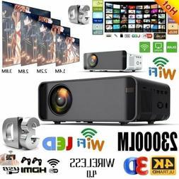 23000Lumens 4K 1080P HD WiFi Mini 3D LED Home Theater Projec
