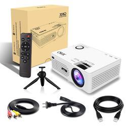 QKK 2400 Lux Mini Projector -Full HD LED Projector 1080P Sup