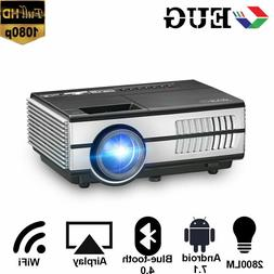Mini 2800lm HD Smart Projector Android 7.1 Blue-tooth Wirele