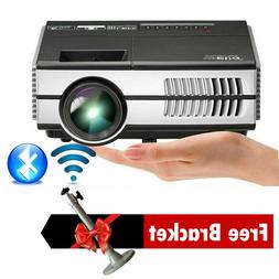 EUG 2800lm LED Mini Android 7.1 Projector Blue-tooth Bundle