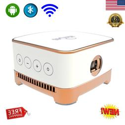 Wireless WiFi Mini LED Smart Projector Android 7.1 BT 4.1 Ho