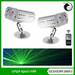 2PCS Mini Remote Controlled Laser Projector DJ Stage Light f