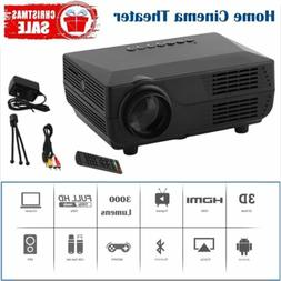 3000 Lumens 1080P 3D Mini Projector Home Theater LED Multime
