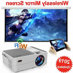 3500LMS LED Mini Wifi Projector 1080P Miracast Airplay For i
