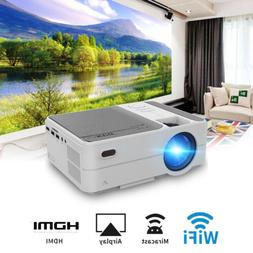3500lms Mini LED Home Theater WiFi Projector HD Wirelessly M