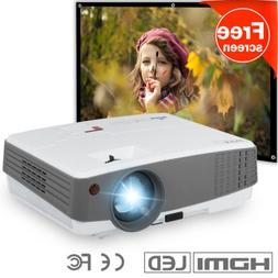 EUG 3600lms HD Portable Mini Projector LED Home Theater PS4