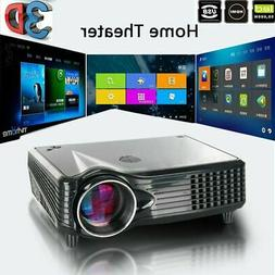 5000 Lumens 3D 1080P Full HD Mini Projector LED Multimedia H
